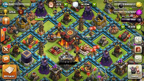 TownHall 10, All fully maxed out, except for things from