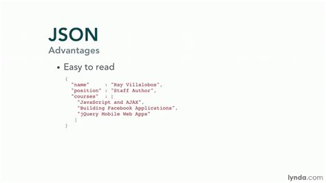 JavaScript and JSON tutorial: What is JSON?   lynda