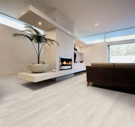 Porcelain wood effect tile helps create the look and feel