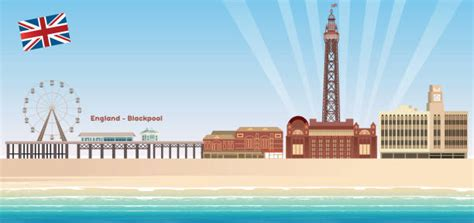 Best Blackpool Tower Illustrations, Royalty-Free Vector