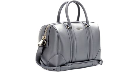 Givenchy Lucrezia Leather Bowling Bag in Gray - Lyst