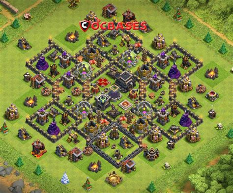 Clash of clans town hall 9 defense base > THAIPOLICEPLUS