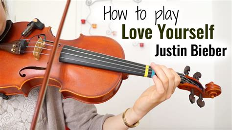 Love Yourself - Justin Bieber (how to play)   Easy Violin