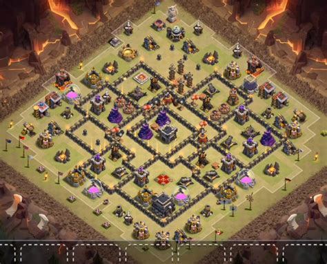9+ Best TH9 War Bases Anti 2 star With Bomb Tower 2016