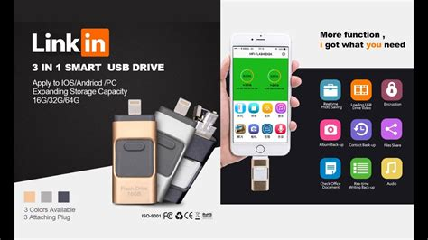 3-in-1 OTG USB Flash Drive for Android/iPhone/iPad/Macbook