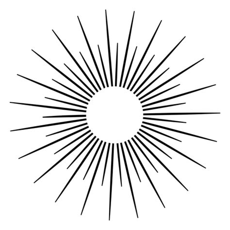 Sunshine rays icon - Transparent PNG & SVG vector file