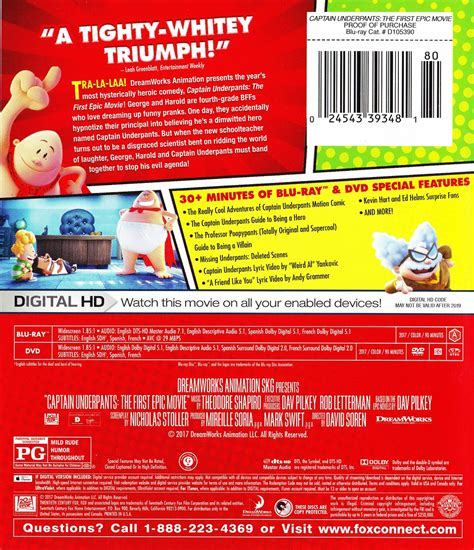Blu-ray Review: CAPTAIN UNDERPANTS: THE FIRST EPIC MOVIE