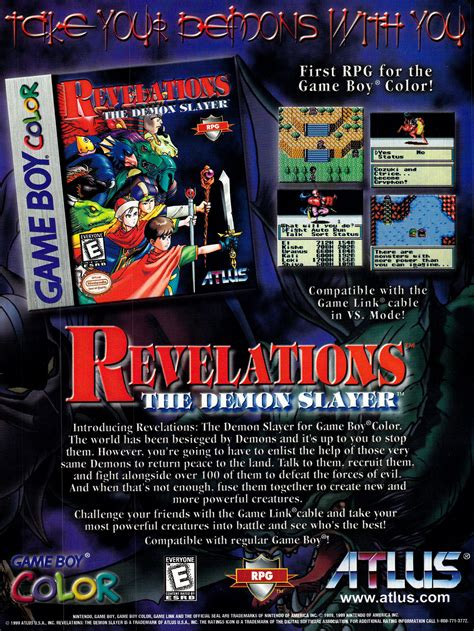 Video Game Ad of the Day: Revelations: The Demons Slayer