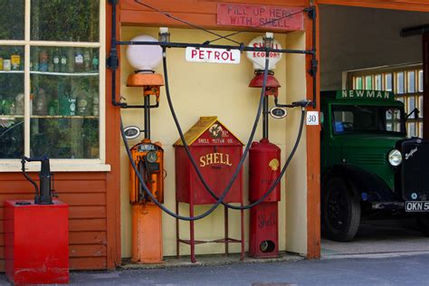Free Images : old, vehicle, color, gas station, petrol